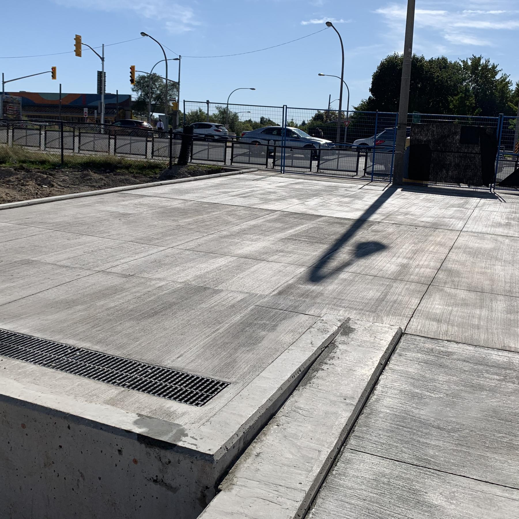 CONCRETE RAMP AND PLATFORM